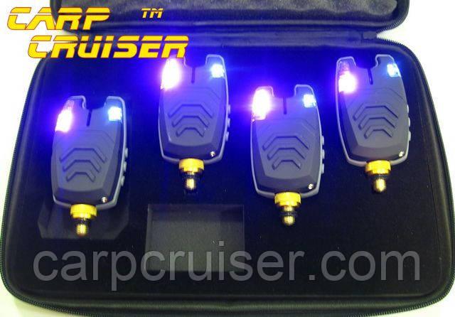 Сигнализаторы Поклевки FA210-4A электронные набор БЕЗ пейджера и БЕЗ привязки к пейджеру, для карповой ловли