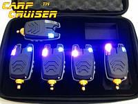 Набор Сигнализаторов Поклевки 5 ш FA210-5A БЕЗ пейджера БЕЗ привязки к пейджеру в безопасном кейсе, чехле , фото 1