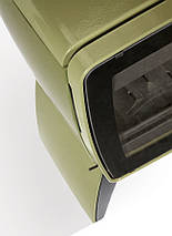 Печь камин чугунная DOVRE Vintage 35 TB оливковая зеленая, фото 2