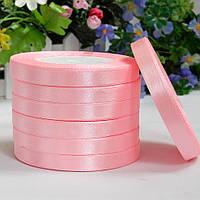 Атласная лента 1 см, №4 св.розовый, рулон 23 м