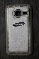 Чехол-накладка Back Cover Leather Samsung J105 (J1 Mini) Gold, фото 1