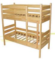 Кровать детская 2-х ярусная из натуральной древесины