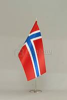 Флажок Норвегии 10*20 см., искуственный шелк