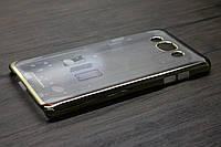 Чехол-накладка Back Cover Transparent Samsung J710 (J7-2016) Gold, фото 1