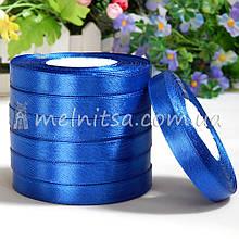 Атласная лента 1 см, №40 синий, рулон 23 м