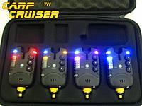 Набор Сигнализаторов Поклевки FA211-4A БЕЗ пейджера и БЕЗ привязки к пейджеру, для карповой ловли в Украине