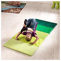IKEA ПЛУФСИГ Складной гимнастический коврик, зеленый : 10262831, 102.628.31
