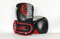 Боксерские перчатки PowerPlay 3006 Lion Predator Serits Black