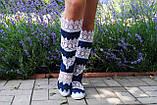 Кружевные высокие джинсовые сапожки +кружево макраме, фото 2
