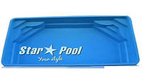 Стекловолоконный бассейн  Star Pool Double Venus (стоимость чаши указана для базовой комплектации бассейна)