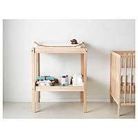 IKEA СНИГЛАР Пеленальный стол, бук, белый : 20045205, 200.452.05
