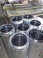 Дымоход (Сэндвич) 0,8 мм из нержавеющей стали в нержавеющем кожухе