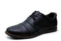 Туфли мужские Trike, кожаные, спортивные, черные, фото 1