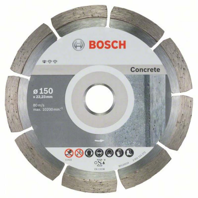 Алмазный отрезной круг Bosch Standard for Concrete150x22,23, 10 шт в уп.