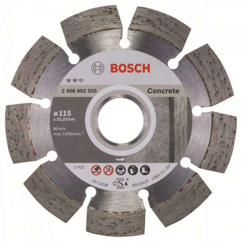 Алмазный отрезной круг Bosch Expert for Concrete115x22,23