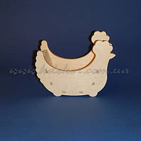Курочка №1 (Конфетница. Коробочка) заготовка для декупажа и декора