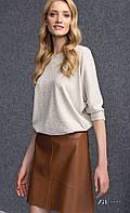 Женская юбка коричневого цвета из искусственной кожи. Модель Barry Zaps. Коллекция осень-зима 2016-2017.