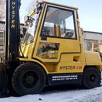 Вилочный погрузчик б/у HYSTER H3.00XM, 3 тонны, дизель, идеальное состояние. Кабина с отоплением. Сайд-шифт.