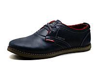 Туфли мужские Clarks Desert Trek, кожаные, спортивные, синие, р. 45