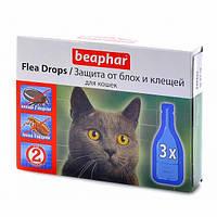 Капли от блох и клещей для кошек БЕАФАР , 3шт.