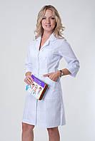 Белый медицинский халат из батиста