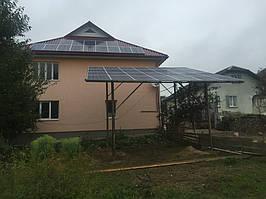 Мережева сонячна електростанція 10кВт, м. Долина, Івано-франківської обл.