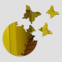 Декор зеркальный бабочки, золото
