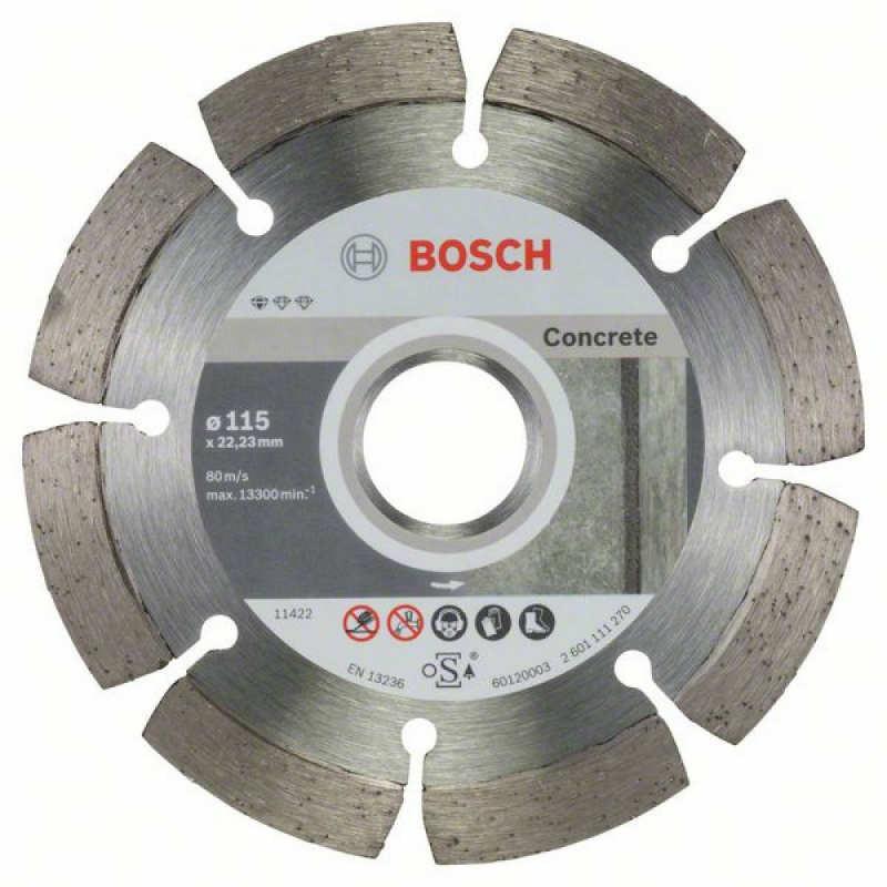 Алмазный отрезной круг Bosch Standard for Concrete115/22,23, 10 шт в уп.
