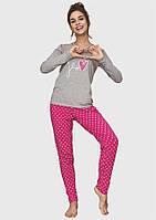 Пижама женская теплая хлопковая Key LNS 651 B6