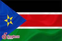 Флаг Южный Судан 90*135 см., атлас плотный.,1-но сторонняя печать