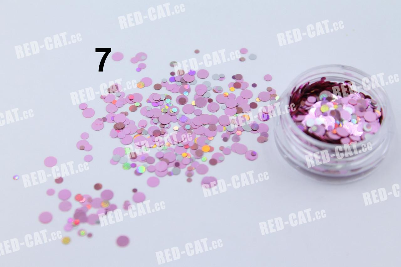 Конфетті для дизайну нігтів № 7