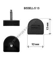Набойки полиуретановые BISSELL-S, р. 13L (13*15 мм), штырь 2.9 мм, цв. черный