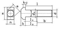 DIN 186 (ГОСТ 13152) Болт с Т-образной головкой