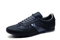 Туфли Gekon, мужские, кожаные, спортивные, темно-синие, р. 44