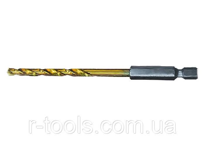 Сверло по металлу, 8 мм, HSS, нитридтитановое покрытие, 6-гранный хвостовик MATRIX 7178029
