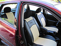 Чехлы для сидений авто из экокожи разные цвета универсальные STANDART 3