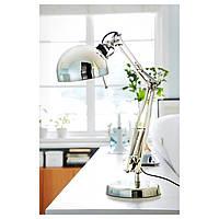 IKEA ФОРСО Лампа рабочая, никелированный : 80146763, 801.467.63