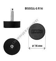 Набойки полиуретановые BISSELL-S, р. R16 (d-16 мм), штырь 2.9 мм, цв. черный