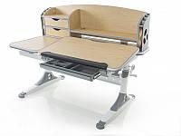 Стол с полками функциональный Evo-kids Aivengo (L) Maple клен/ белые с серым