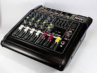 Аудио микшер Mixer BT-5200D 5ch., микшерный пульт, активный микшер, музыкальный аудиомикшер