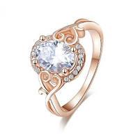 Позолоченное кольцо с цирконами р 17 18 код 239