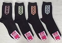 Носки шкарпетки мужские стрейч демисезонные черные вышиванка орнамент 25р, 27р, 29р Червоноград