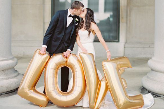 фольгированные надписи свадебные