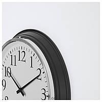 IKEA БРАВУР Настенные часы, черный : 60098975, 600.989.75