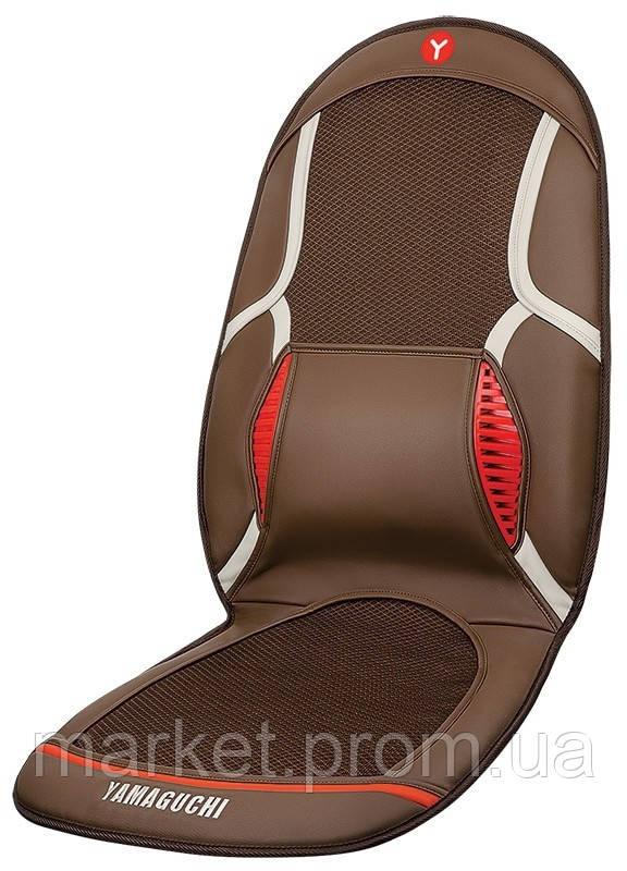 Массажная накидка для авто YAMAGUCHI Drive с вентиляцией и охлаждением (коричневый)
