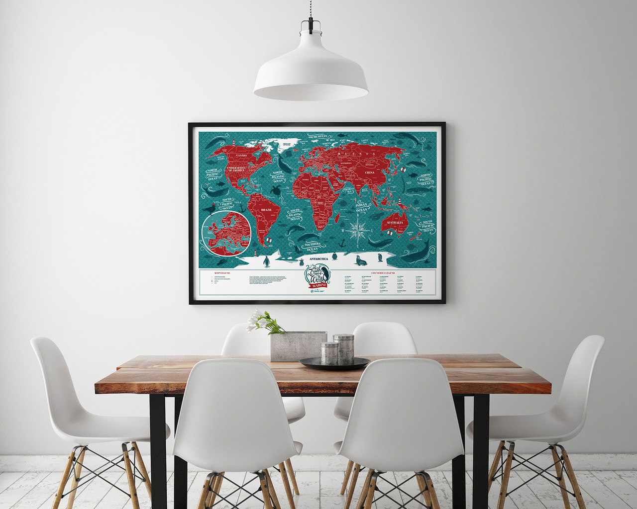 Скретч карта мира  «Marine World»