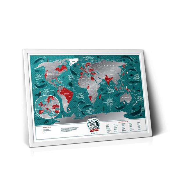 Скретч Карта Мира Travel Map Marine