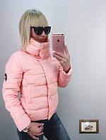 Молодежная куртка с потайной застежкой и воротником - стойка