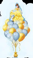 Фонтан  из гелиевых шаров - Бэль. Гелиевые шары Киев. Гелиевые шары Троещина.