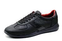 Туфли Gekon, кожаные, мужские, спортивные, черные, р. 40 41